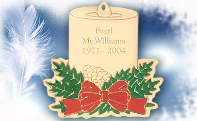 Colored Candle Memorial Ornament