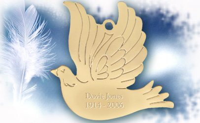 Dove Memorial Ornament