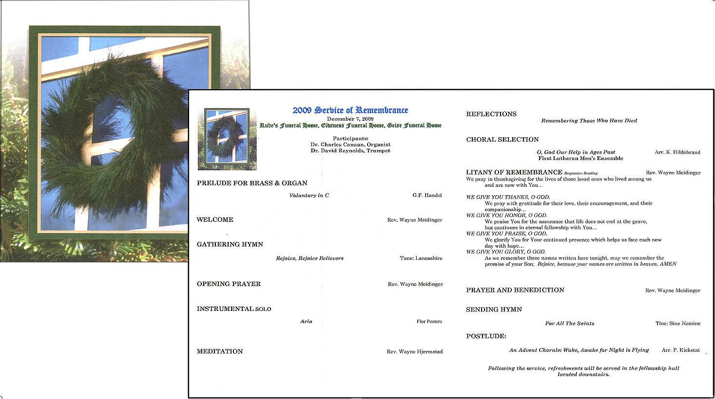 Memorial Service Programs – Memorial Service Invitation Sample